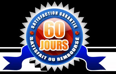 """Garantie """"Satisfait ou Remboursé"""" 60 jours"""